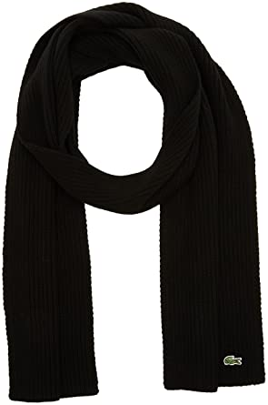 1fb5e3868a11 Lacoste Men s Ribbed Scarf  Amazon.co.uk  Clothing