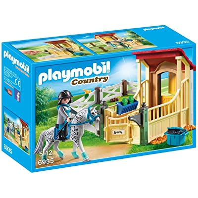 PLAYMOBIL Horse Stable with Appaloosa Building Set: Toys & Games