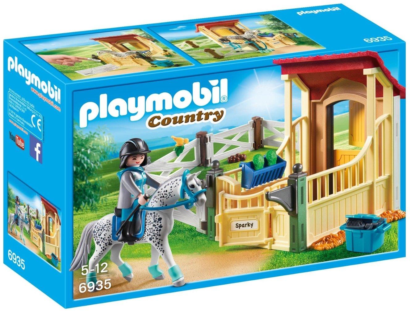 PLAYMOBIL Horse Stable Appaloosa Building Set