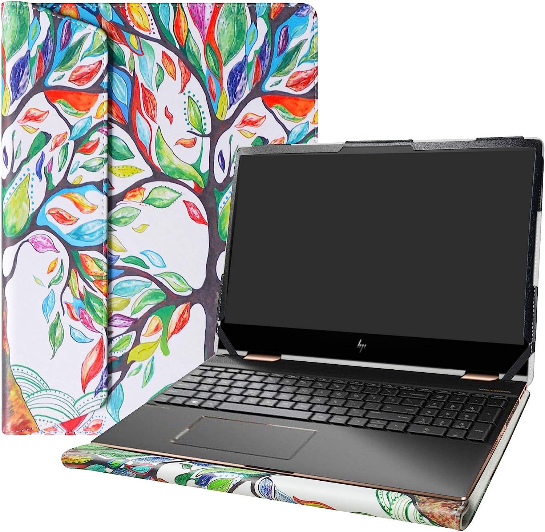 """Alapmk Protective Cover Case for 15.6"""" HP Envy x360 15 15M-dsXXXX 15M-drXXXX(15m-dr1011dx)/HP Chromebook 15 15-deXXXX Laptop[Not fit Envy X360 15 15-cnXXXX 15-cpXXXX 15-apXXX 15-bpXXX],Love Tree"""