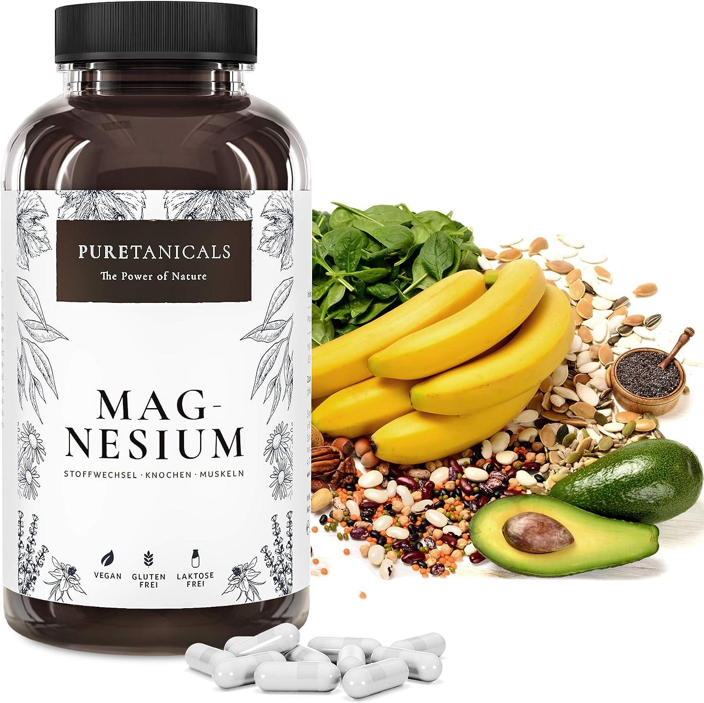Capsulas de Magnesio - Alta Dosis - 400mg de Magnesium ELEMENTAL (puro), 664mg en Polvo, Probadas en Laboratorio - Sin Estearato de Magnesio, Vegano ...