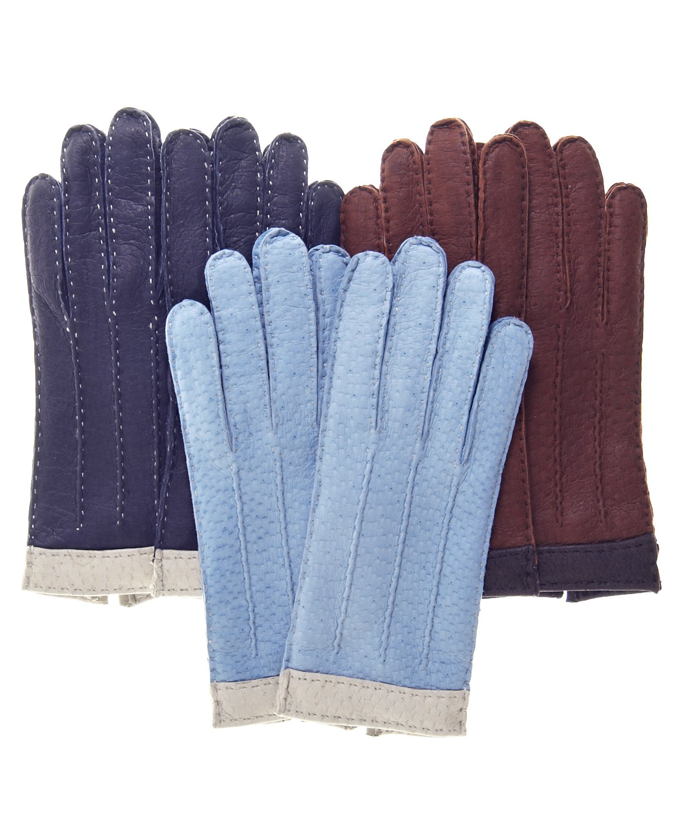 Fratelli Orsini Women's Italian Cashmere Lined Peccary Gloves Size 7 1/2 Color Cork by Fratelli Orsini (Image #1)