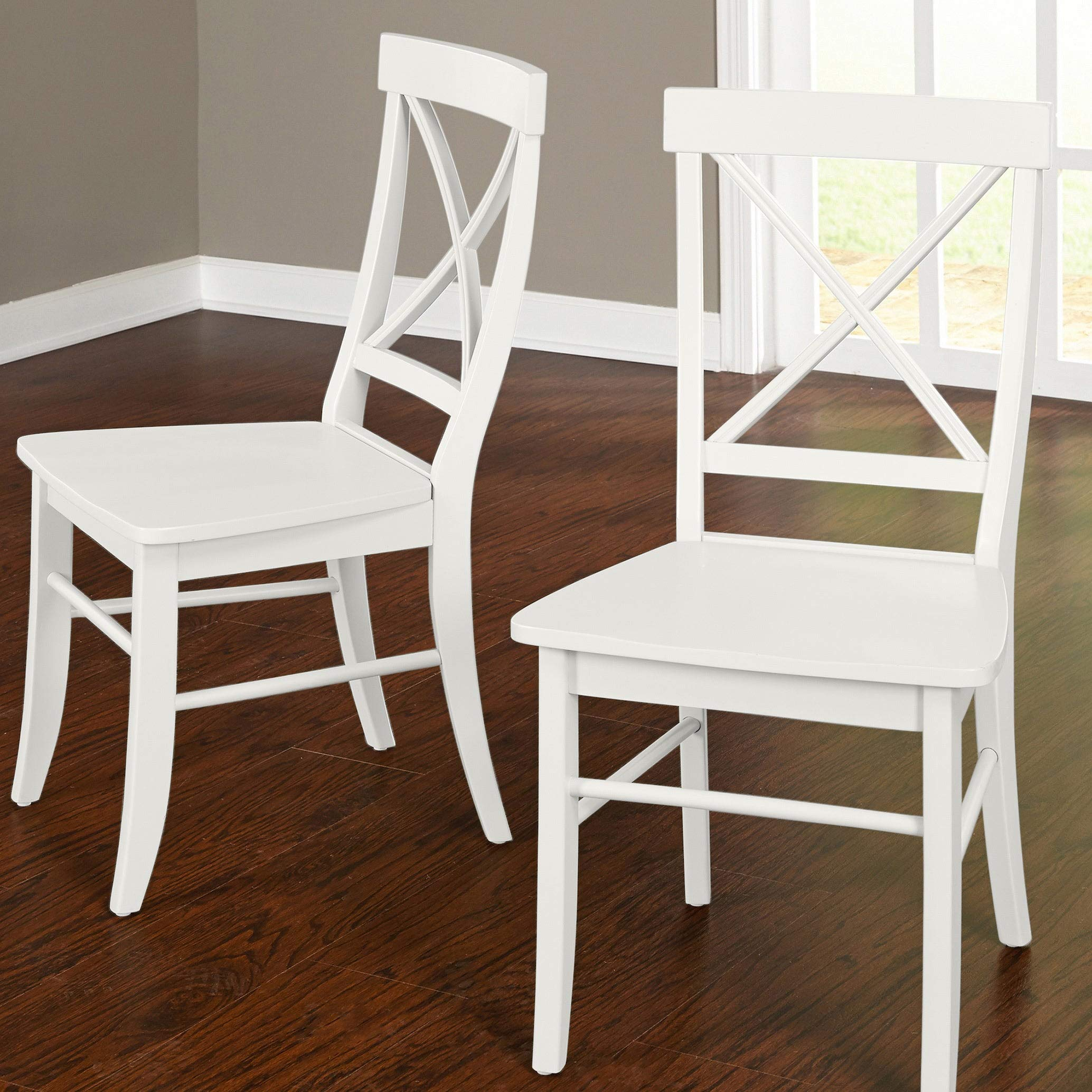 Target Marketing Systems 75118WHT PR Albury Set of 2 Dining Chairs, White by Target Marketing Systems