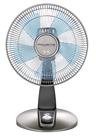 Rowenta VU2531 Turbo Silence Oscillating 12-Inch Table Fan Powerful and Quiet, 4-