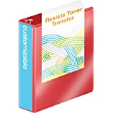 Wilson Jones Heavy Duty D-Ring View Binder with Extra Durable Hinge, 2 Inch, Customizable, Red (W385-44-1797PP1)