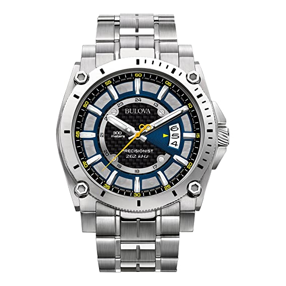 ca413a865a Bulova 96B131 Reloj Análogo para Hombre, Redondo, color Gris: Bulova ...