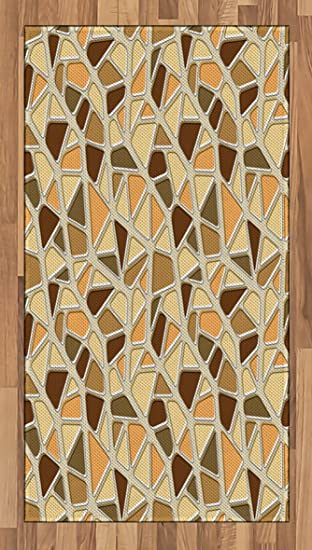 Amazon.com: Modern Area Rug by Lunarable, Street Design Wall Pattern ...