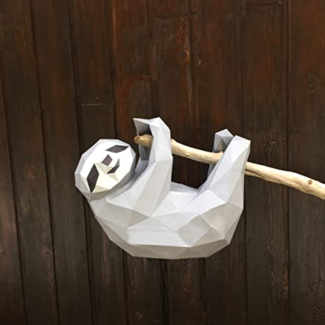 Amazon com: Sofs Designs 3D Sloth DIY Paper Model  Kit