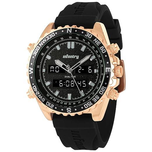 INFANTRY - Reloj táctico militar para hombre, correa de silicona: Amazon.es: Relojes