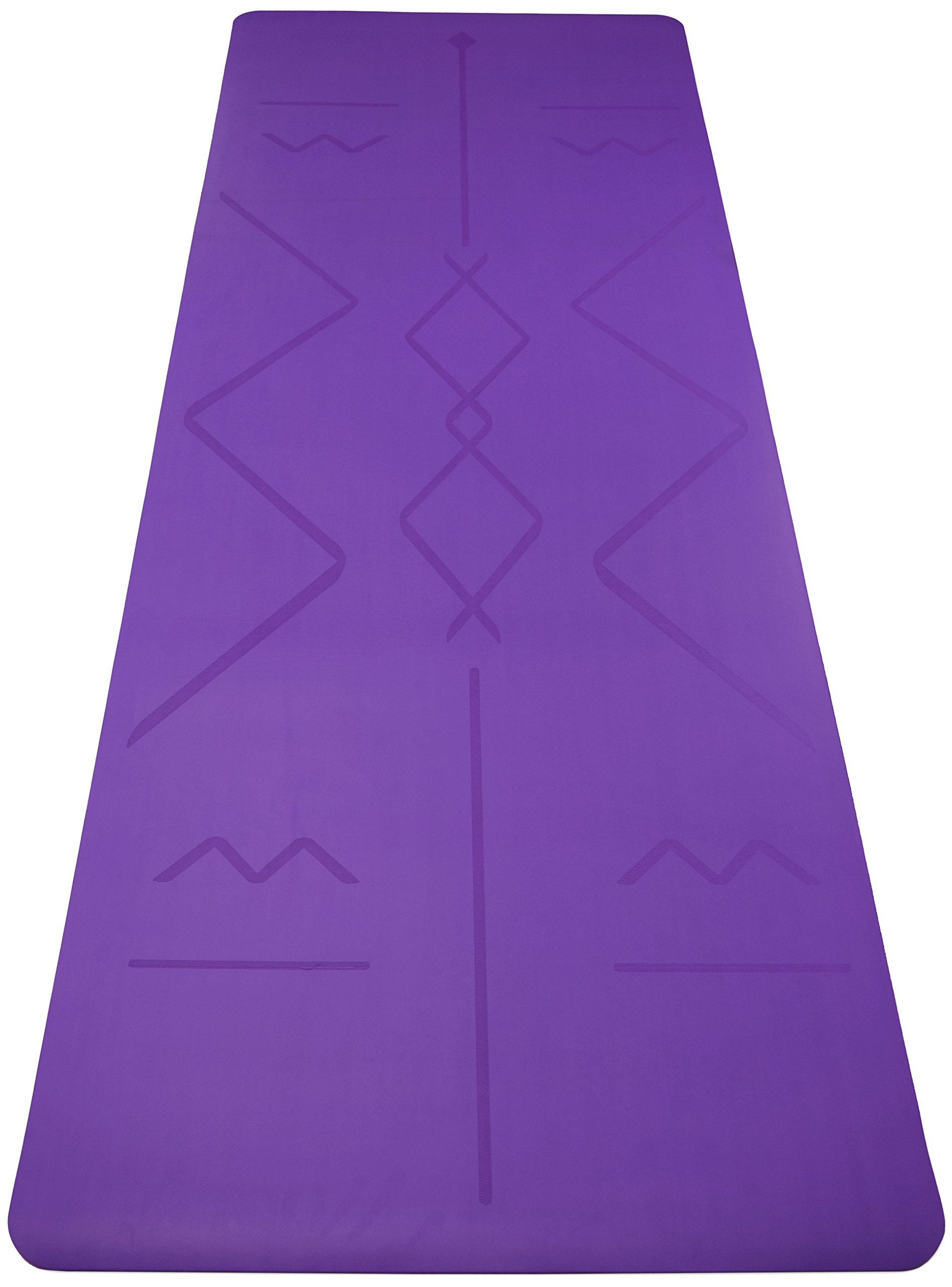 Box of 4 - Purple Original OMphibian Yoga Mat with Laser Etched Alignment Lines – The Best Non - Slip (Wet or Dry) Eco-Friendly Natural Rubber Base Yoga Mat with Laser Etched Alignment Lines