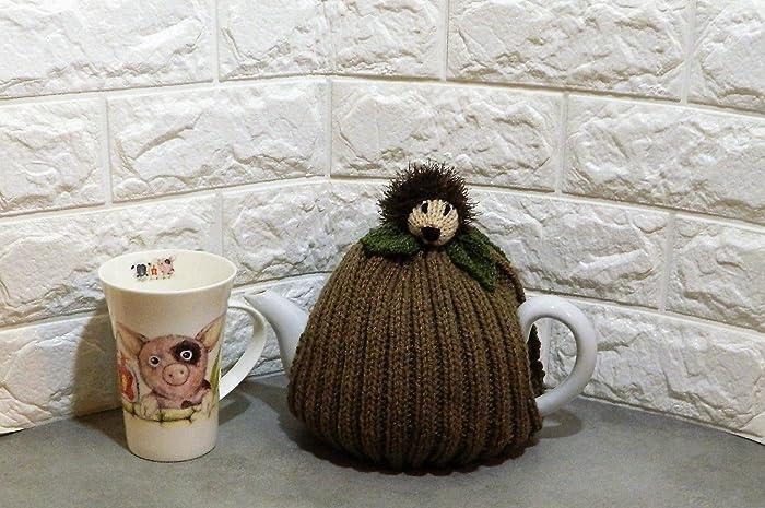 Amazon Hand Knitted Hedgehog Tea Cozy Fits 4 6 Cup Tea Pot