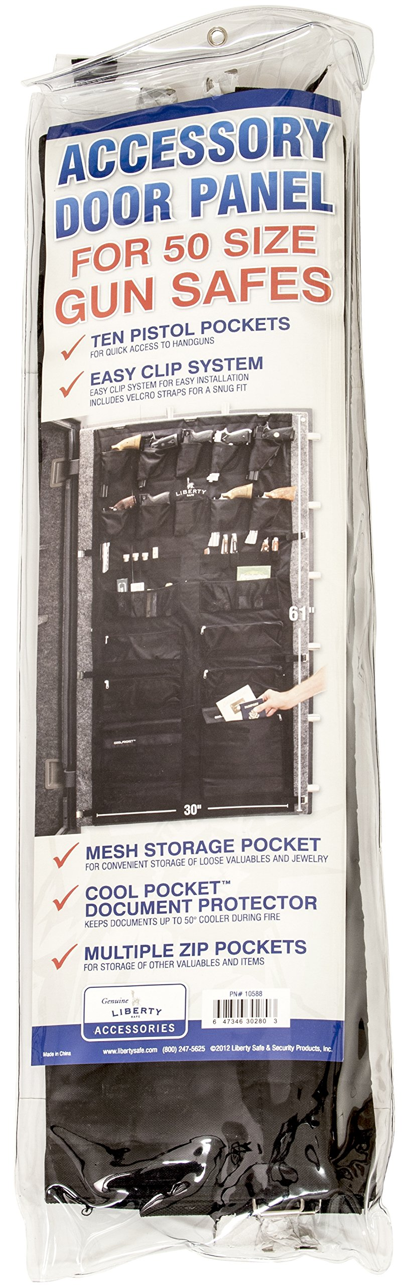 Liberty Gun Safe Door Panel Organizer 10588 Size 50 (29.5 x 62) for 72 Inch Tall Safes by Liberty Safe (Image #2)