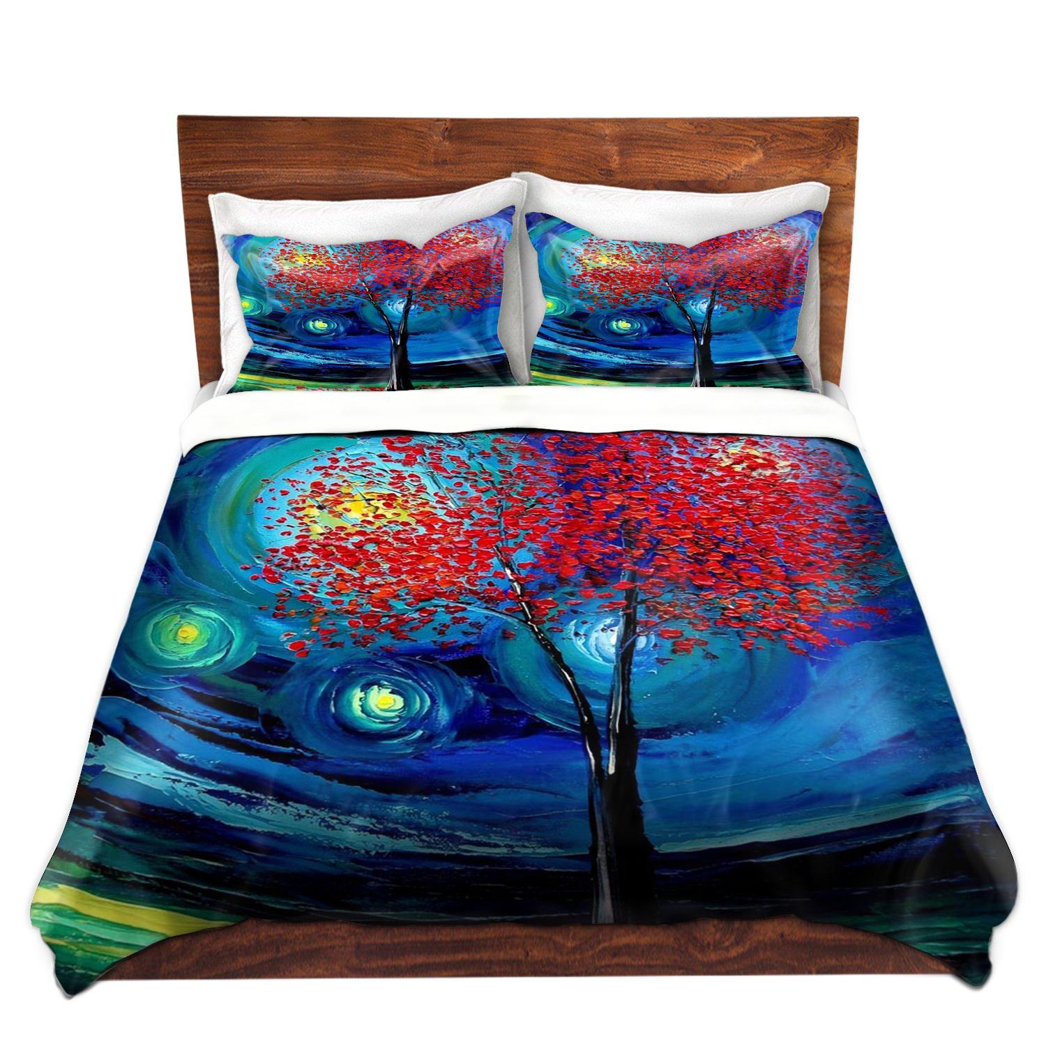DiaNoche Designs Ann Unique Home Decor Bedding Ideas Story of the Tree Act Xli Cover, 7 Queen Duvet Sham Set