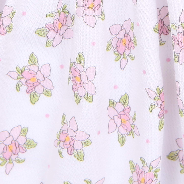 Magnolia Baby Baby Girl Vintage Magnolia Printed Ruffle Footie Pink