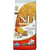 Farmina Natural and Delicious Low-Grain Formula Dry Dog Food, 26.5-Pound, Cod and Orange