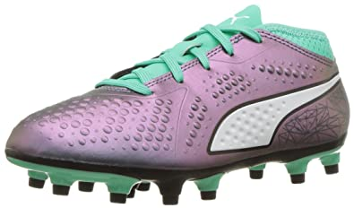 b9f56f61d06f PUMA Unisex ONE 4 IL Syn FG Jr Soccer Shoe Color Shift-Biscay Green White