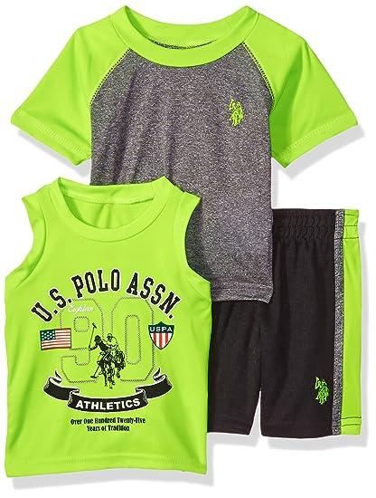 Polo Assn Boys Tank and Mesh Short Set U.S