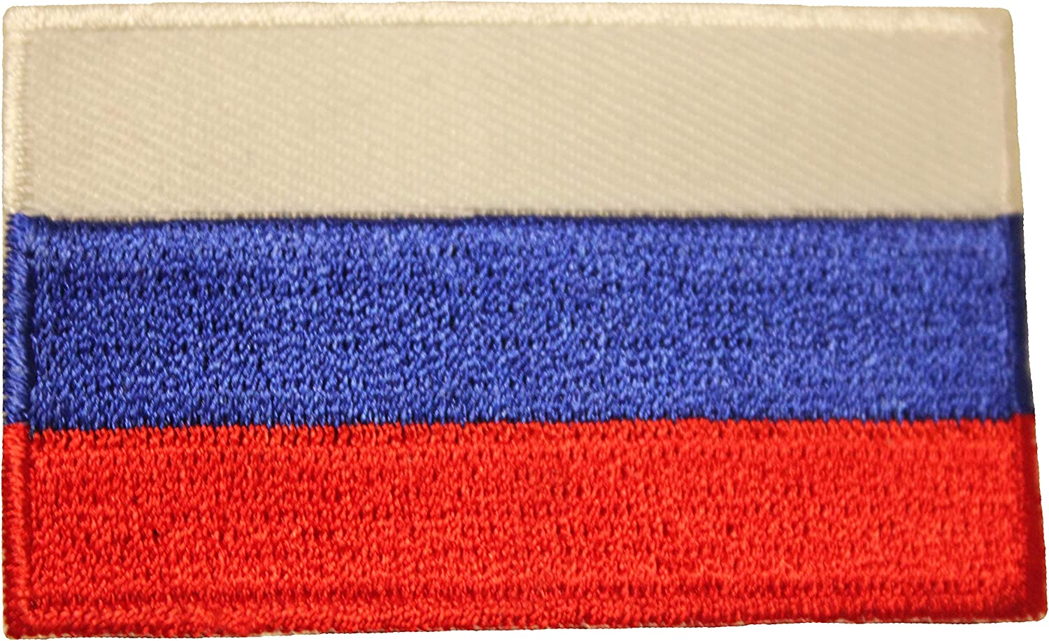 Russia Country Flag Small Iron ON Patch Crest Badge New