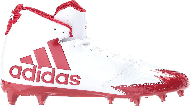 Adidas Herren Freak X Carbon Mid Football-Schuhe Weiß Power Red Power Red