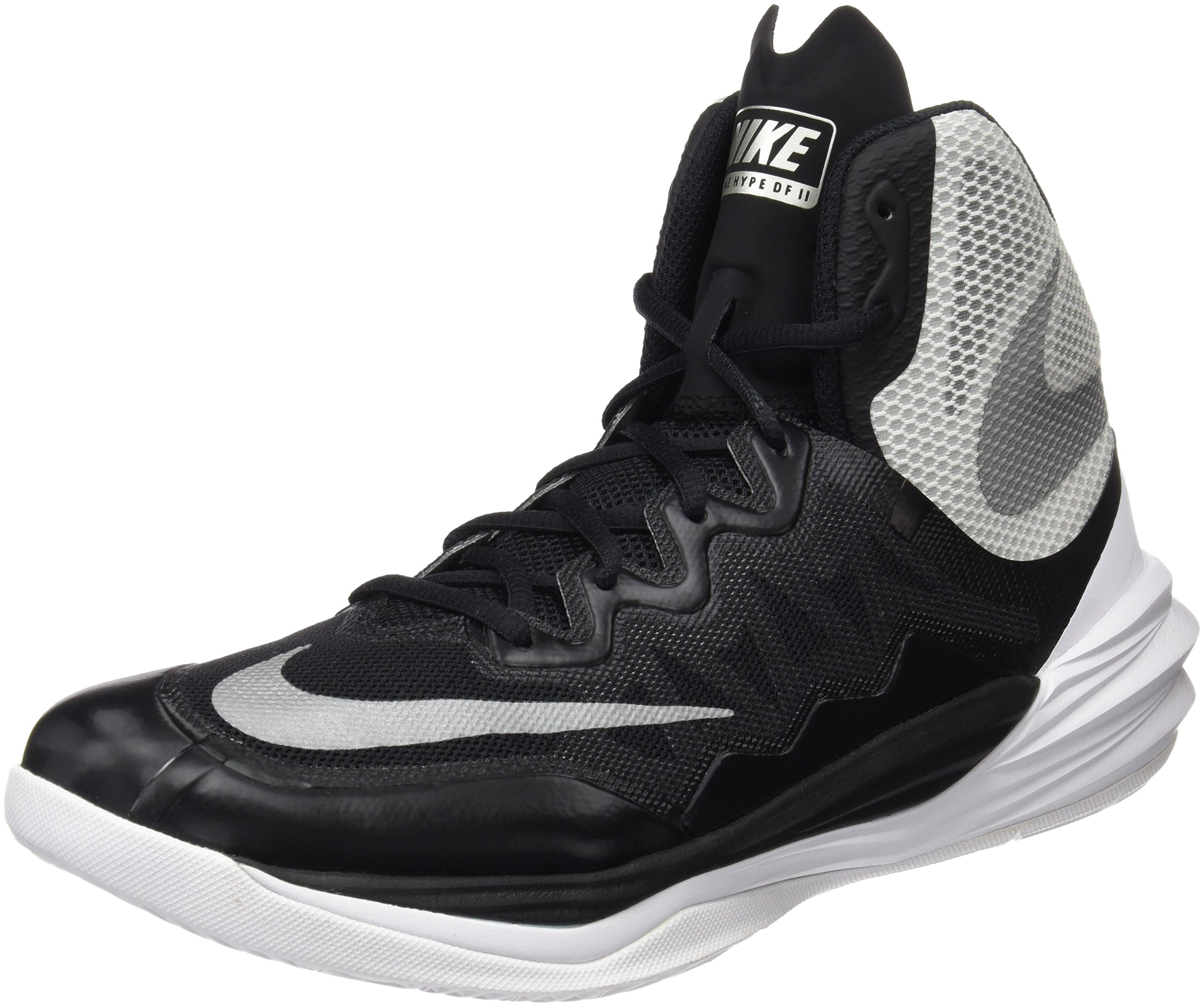 innovative design e5c32 b4044 Galleon - Nike Mens Prime Hype DF 2016 Basketball Shoes Black Silver White  806941-001 Size 10.5