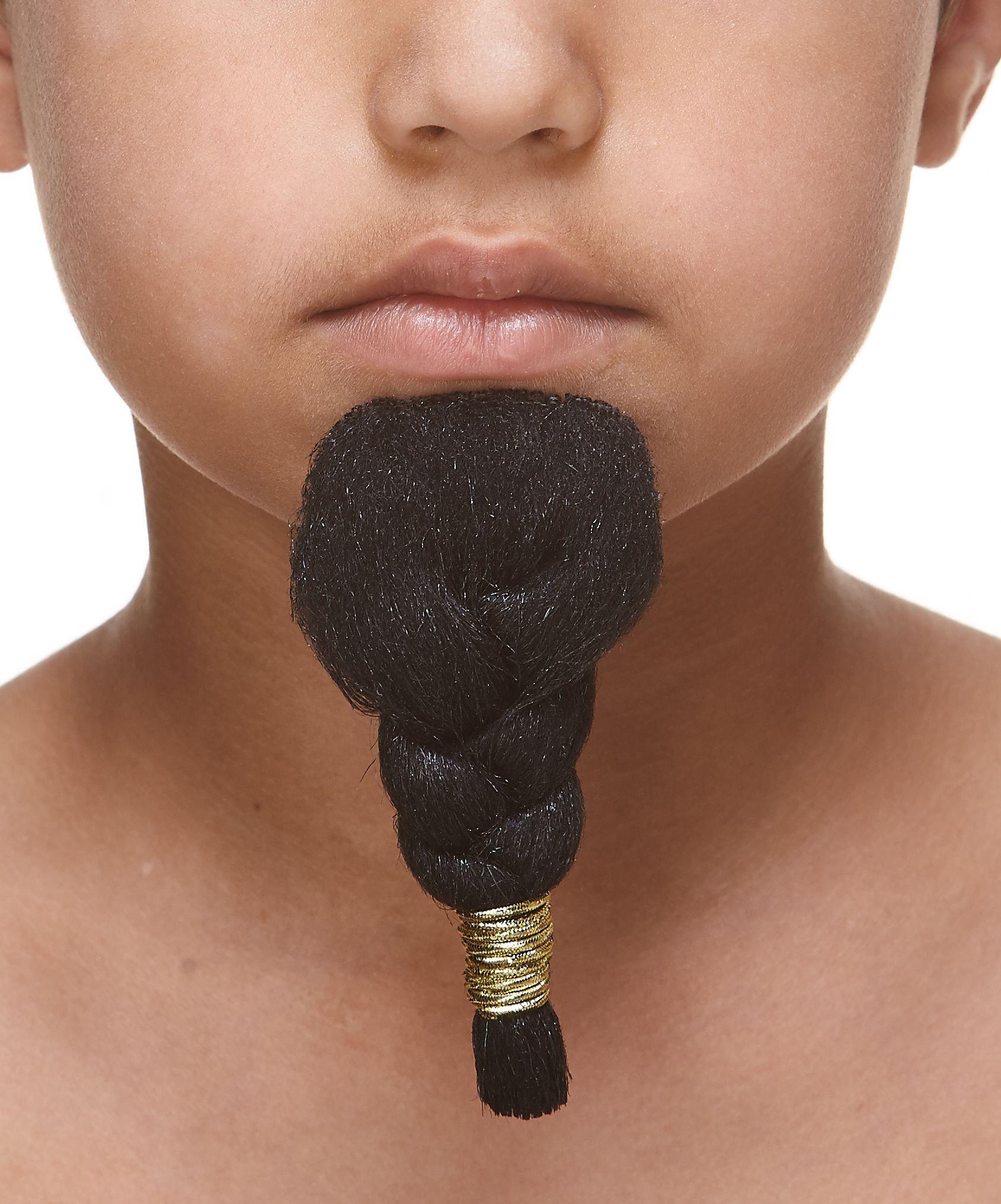 Mustaches Self Adhesive, Novelty, Fake, Small Pharaoh Beard, Black Color