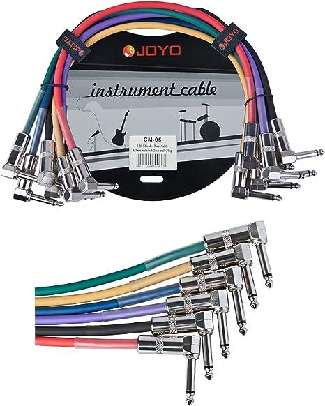 JOYO cm-05 - Cable patch jack a jack (6.3 mm, mono, macho): Amazon.es: Instrumentos musicales