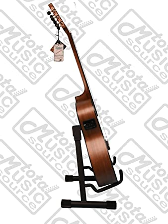 Amazon Com Luna Guitars Art Deco Nylon Acoustic Electric Guitar