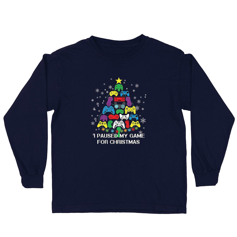 lepni.me Camiseta para Niño/Niña Pausé mi Juego para Navidad Equipo de Juego Divertido (3-4 Years Azul Multicolor): Amazon.es: Ropa y accesorios