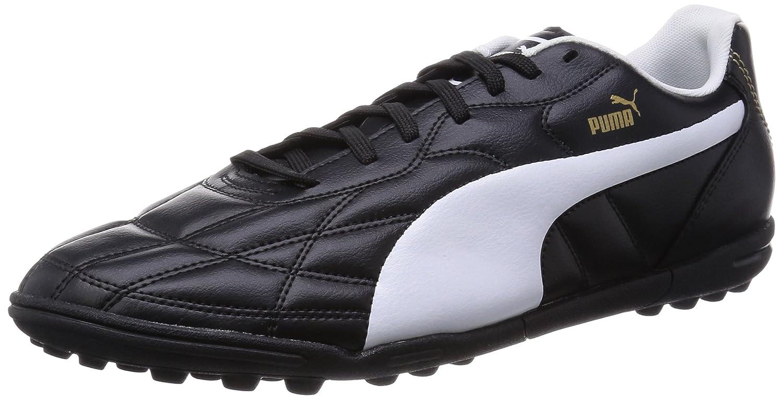 Puma Classico TT - Zapatillas de fútbol de Cuero Hombre 41 EU|Negro - Schwarz (Black-white-puma Gold 01)