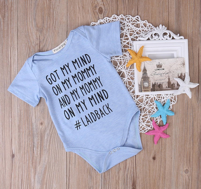 Amazon Newborn Baby GOT MY MIND ON MY MOMMY Funny Bodysuits