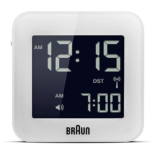 140 opinioni per Braun- Orologio digitale da viaggio, colore: bianco