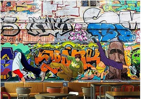 BHXINGMU Murales Personalizzati Graffiti Di Street Art Pareti Di Mattoni  Hip Hop Grande Decorazione Della Parete 34b12ccd3e99