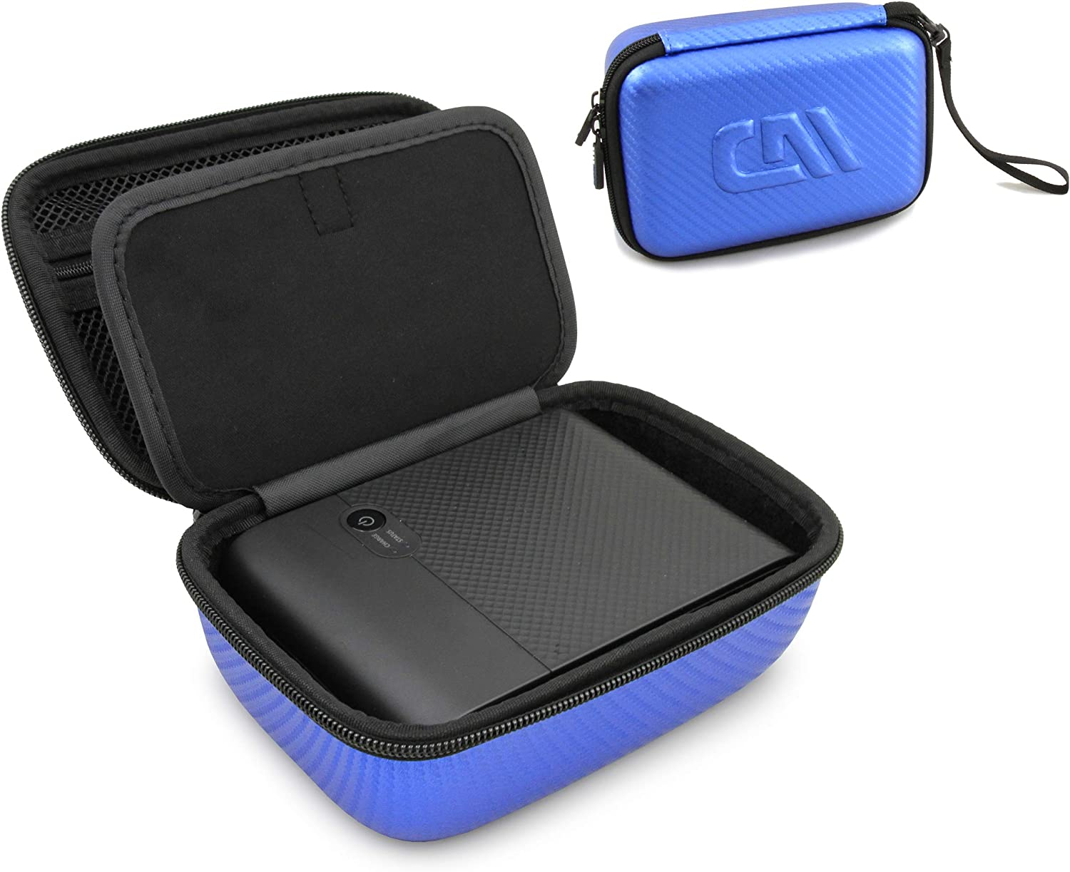 Casematix Carry Case Compatible with Canon Selphy Square QX10 Compact Photo Printer, Cables and Prints, Includes Blue Case Only