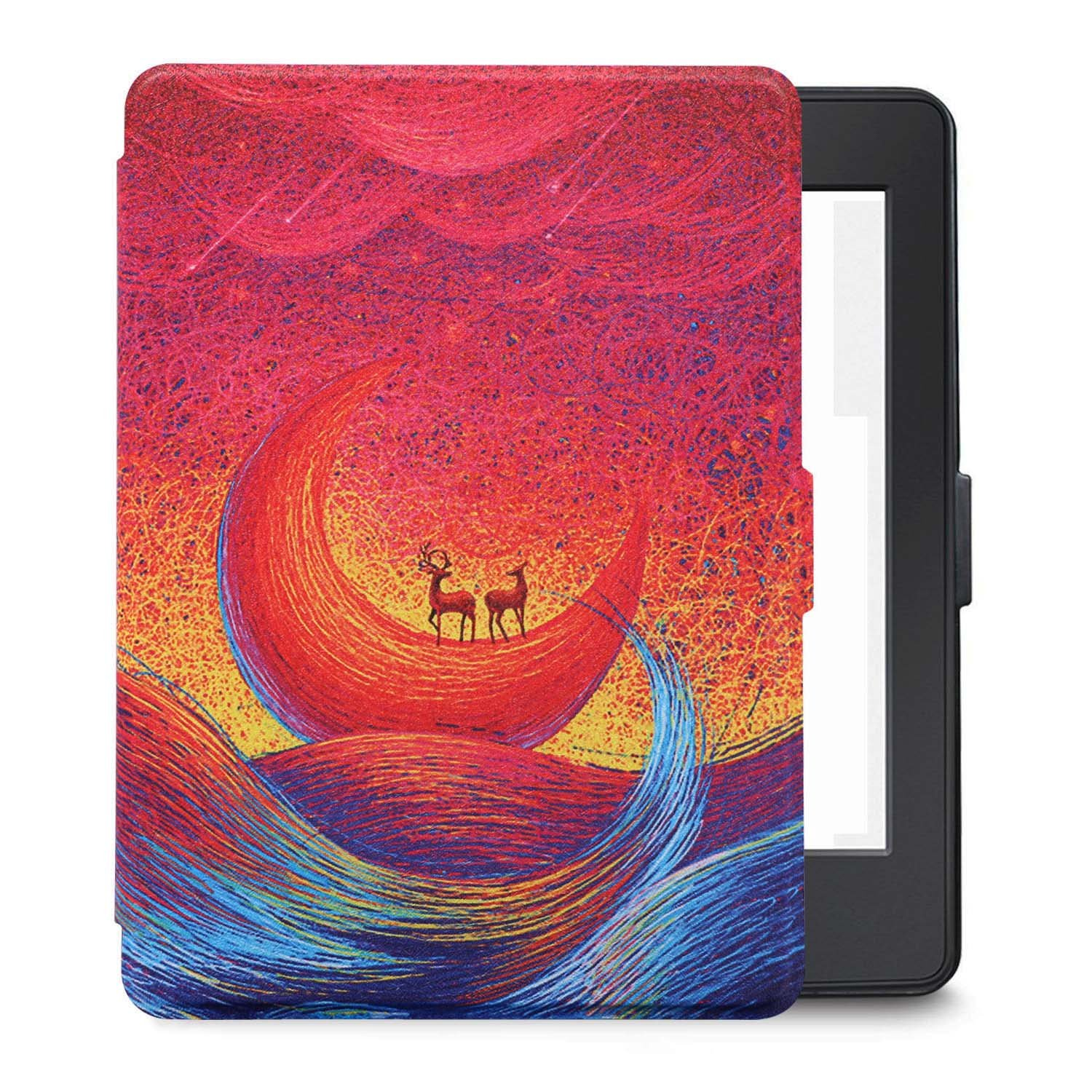 LHHZ-U Kindle Paperwhite case cover,Premium Leather Smart Cover for Kindle Paperwhite,Auto Wake/Sleep,Fits 2012,2013,2015 and 2016 Versions. (Color of the moon) by LHHZ-U