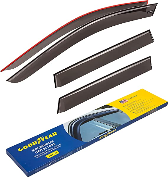 Tinted Easy to Fit Full Set of 4 Wind Deflectors Rain Guards Heko WD10221-5143 5 Doors Model Only