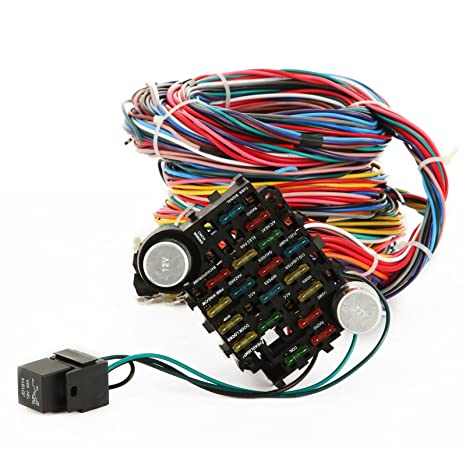 Amazon Com Mophorn 21 Circuit Wiring Harness Kit Long Wires Wiring
