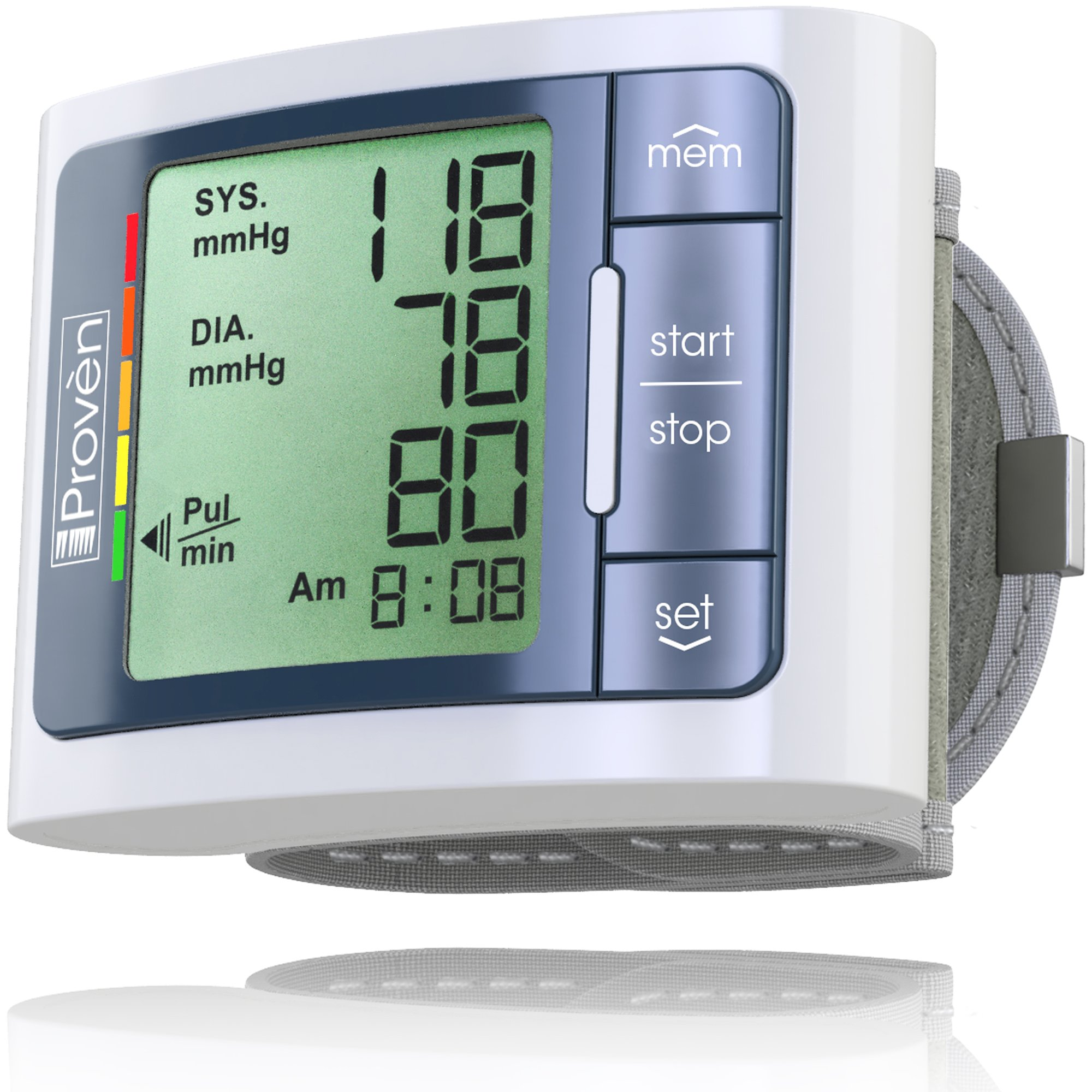 Blood Pressure Monitor Wrist - Large Screen Display - Clinically Accurate & Fast Reading - FDA Approved - BPM-337 by Iprovèn (BPM Wrist)