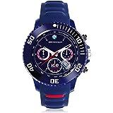 Ice-Watch - Montre Homme - Quartz Chronographe - Bracelet Silicone Bleu
