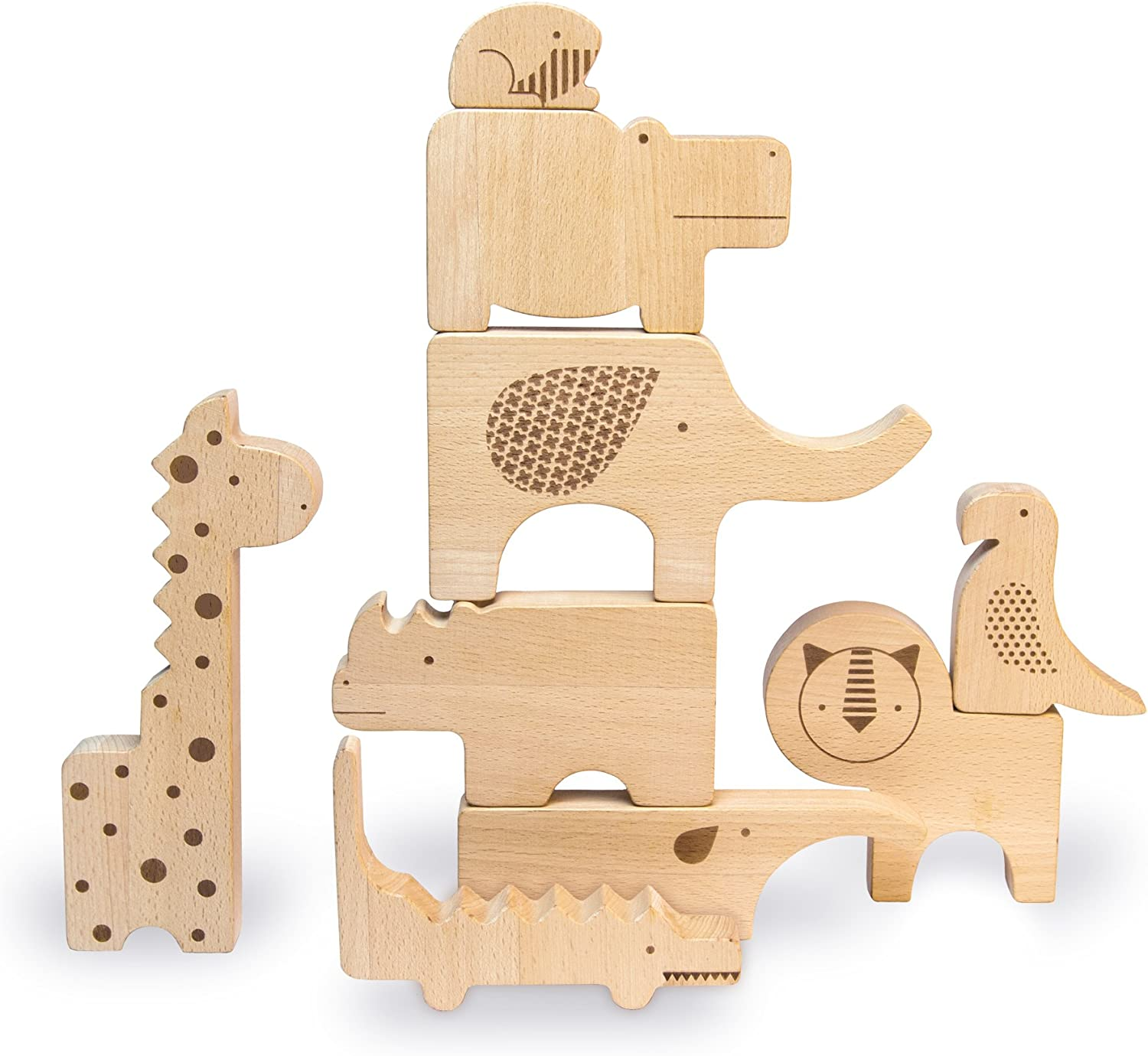 Petit Collage Bear Stacker Toy | Wooden