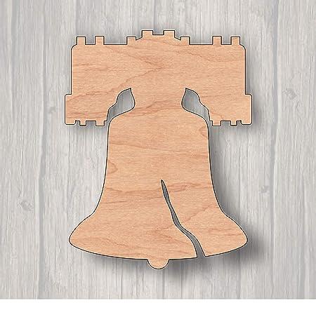 Liberty Bell - Cartel de Madera Cortado con láser, Listo ...