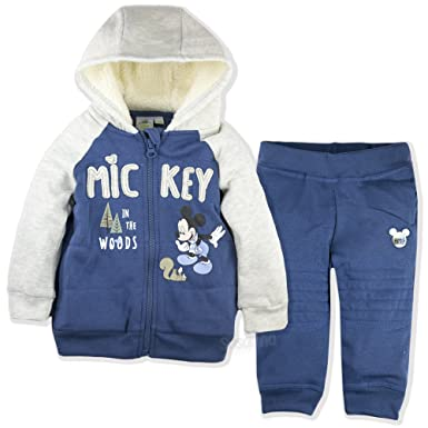 577d464e5 Disney Mickey Mouse Baby Boys Clothing Outfit Tracksuit Set Joggers Hoodie  Warm - Blue 36: Amazon.co.uk: Clothing