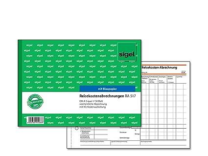 """A5 sigel Formularbuch /""""Reisekostenabrechnung/"""" 50 Blatt"""