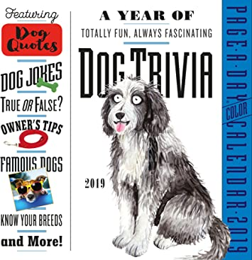 Amazon.com : Year Of Dog Trivia 365 Page-A-Day Desk Calendar 2019