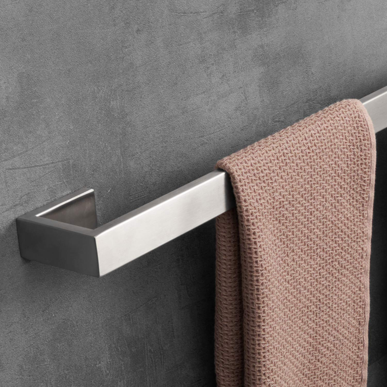 LuckIn Brushed Nickel Bathroom Accessories Set, Modern Style Towel Bar Set, 4-PCS Bath Hardware Set for Bathroom Remodel by LuckIn (Image #3)