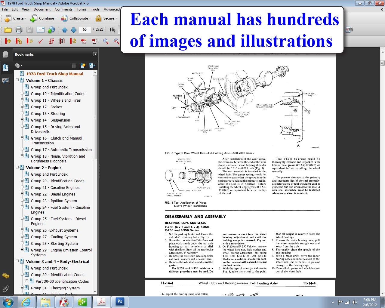1978 ford truck shop manual ford motor company david e leblanc rh amazon com Ford Diagnostic Scanner Software Ford Diagnostic Software