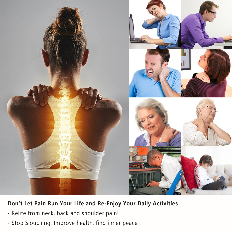 Back Posture Corrector for Women Men, Effective Primate Posture Brace & Armpit Pads, Comfortable Clavicle Brace, Adjustable Thoracic Kyphosis Brace, Upper Back Clavicle Posture Support (REG 32''-45'') by Risheng (Image #3)