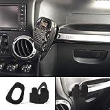 AUFER Vehicle CB Raido Mic Mount Passenger Grab Bar Holder Microphone Mounting Bracket for Jeep Wrangler JL 2018 Up