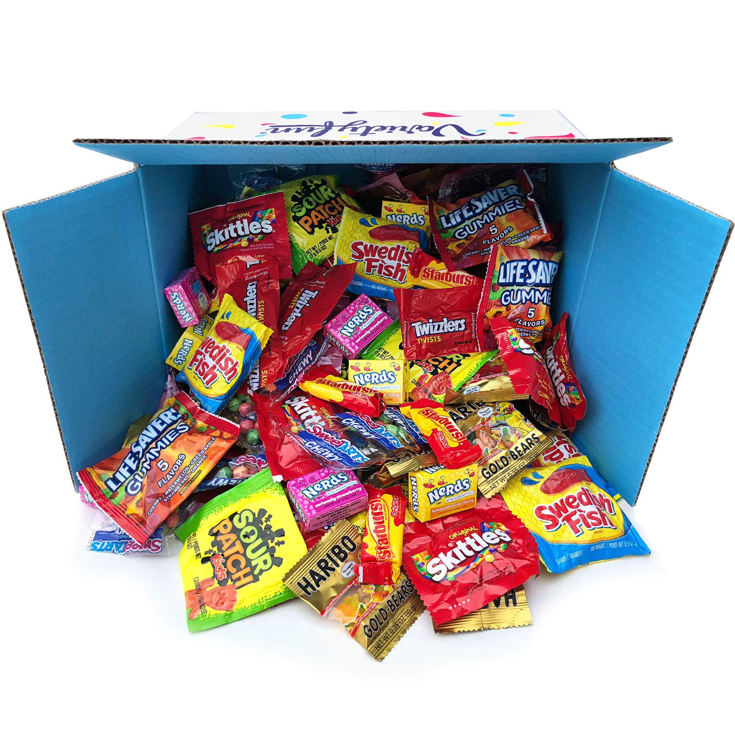 Candy Party Mix Bulk Bag of Skittles Swedish Fish Nerds Haribo Gummy Sour Patch Twizzlers Starburst Mike and Ike ' more! by Variety Fun Net wt (96 oz) by Custom Varietea