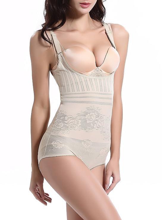 Hammia Women Seamless Body Shaper Open Bust Shapewear Firm Control Bodysuit Body Briefer Smooth Wear