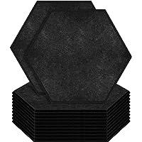 "ZHERMAO 12 Pack Hexagon Acoustic Panels Beveled Edge Sound Proof Foam Panels, 14""X13""X 0.4"" High Density Sound Proofing…"